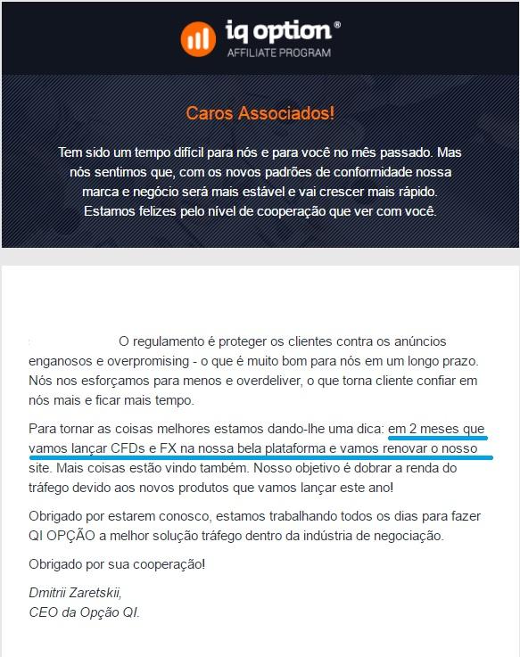 Anúncio Iqoption